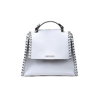 Orciani B01999meshbasalto Women's Grey Leather Handbag