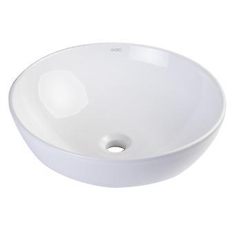 "Eago Ba351  18"" Round Ceramic Above Mount Bathroom Basin Vessel Sink"