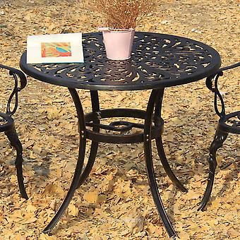 Patio Furniture Dining Set  Garden Chair Table Solid Cast Aluminum Antique