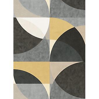 Erismann Elle Decor Circles Yellow Black Wallpaper