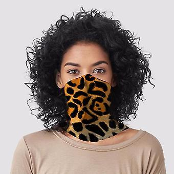 Luipaard dierlijke print nek sjaal gezichtsbedekking