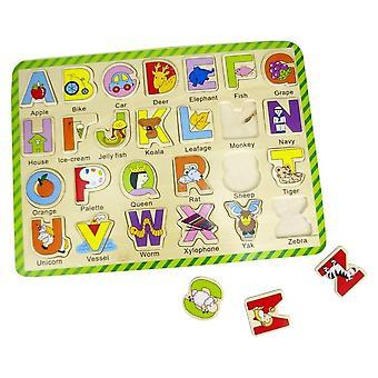 ABG Holz Puzzle.  A,B, C, D Alphabet