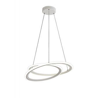 Lámpara Colgante Diseño Glitter 1 Bombilla Blanco Mate 15 Cm