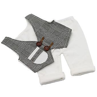 Byxor Väst Set Tillbehör för nyfödda fotografi rekvisita kostym spädbarn liten