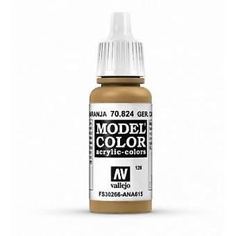 Vallejo Model Color 17ml Acrylic Paint - 824 German Cam Orange Ochre