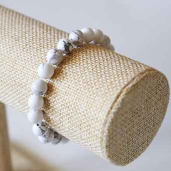 Bracelet En Howlite – Perles 8mm