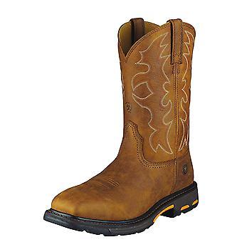 Ariat Mens Workhog الجلود الصلب سحب على أحذية السلامة