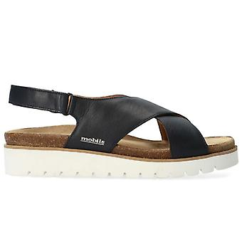 Mephisto Mobils Tally Blue Sandals With Removable Plantar