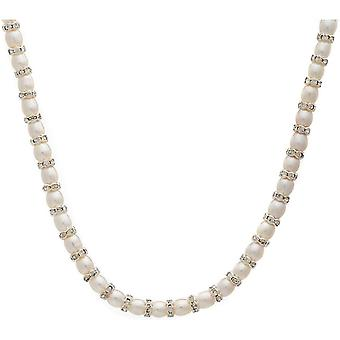 Pearls of the Orient Gratia Freshwater Pearl Rondelle Necklace - White