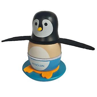 Cute Wooden Penguin Tumbler Statue Miniature Model Toy