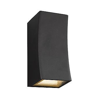 DAR EXETER Up & Down Wand Licht Pistole Metall grau IP44 LED, 2x LED