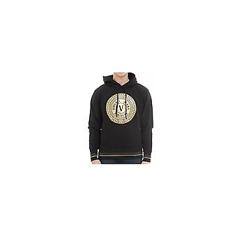 Versace Jeans Couture Cotton Overhead Black Hoodie