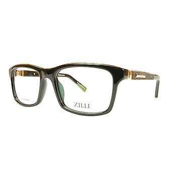 ZILLI glasögon Ram Acetate Läder Titanium Frankrike Handgjord ZI 60001 C01
