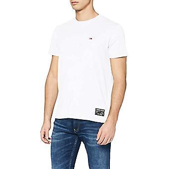 Tommy Jeans Tjm Slub Tee T-Shirt, White (White Ybr), X-Small Men
