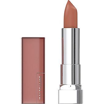 Maybelline Color Sensational Lipstick, Lip Makeup, Matte Finish, Hydrating Lipstick, Nude, Pink, Red, Plum Lip Color, Raw Chocolate, 0.15 oz