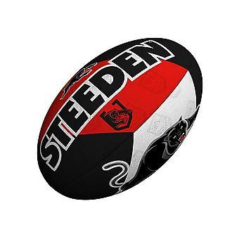 Steeden NRL Penrith الفهود مؤيد 2021 دوري الركبي الكرة الأسود / الأبيض