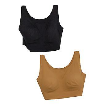 Rhonda Shear One 2 Skintones Body w/ Removable Pads Black Bra 738218