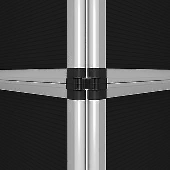 vidaXL 12-paneel wandvouwbaard 242×200 cm zwart