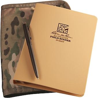 Rite In The Rain Unisex's Tactical Kit Binder 5 Loose Leaf 4.5 x 7 inches & R-97, Tan
