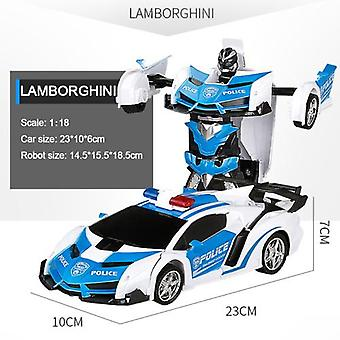 Rc car transformation robots sports vehicle model  robots toys cool deformation car kids toys  gifts for boys  rc drift car