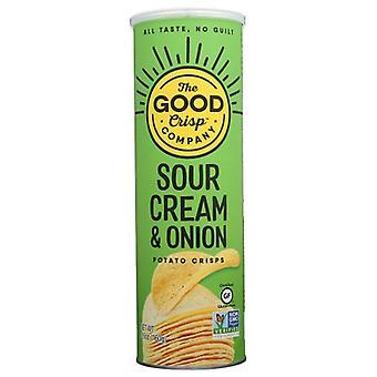 The Good Crisp Company Crisp Stkd Sour Crm Oignon, Boîtier de 8 X 5,6 Oz
