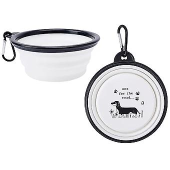 Collapsible Silicone Travel Dog Bowl with Hook   Gift Item