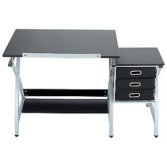 Zeichentisch mit verstellbarem Zeichenbrett und 3 Schubladen
