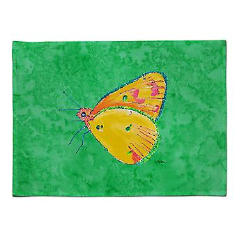 Caroline's Treasures 8861PLMT Butterfly Orange Auf grünem Stoff Tischset, Multicolor