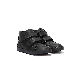 Kickers Tovni Hi Vel Toddlers Black Shoes