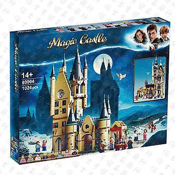 Kompatibel med Lego 80004 Harry Potter-seriens observatoriebyggnadsscen monterad byggsten - pedagogisk leksaksmodell (1024st)