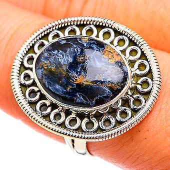 Pietersite Ring Tamanho 9 (925 Sterling Silver) - Handmade Boho Vintage Jewely RING74815