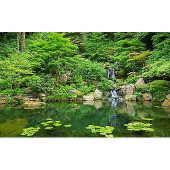 Tapeta Mural Piękny japoński ogród Zen