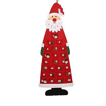 Santa Advent Calendar 24 Days Reusable Christmas Countdown Calendar