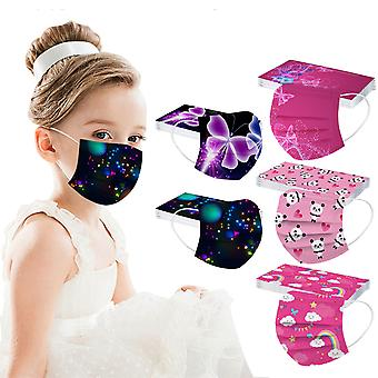 الأطفال الأطفال قناع الوجه المتاح قناع الصناعية 3ply الأذن حلقة قناع 50pc