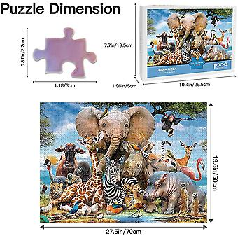 1000 Piece Jigsaw Puzzles For Adults Kids - Animal World Jigsaw Puzzles For Adults 1000 Diy Toys