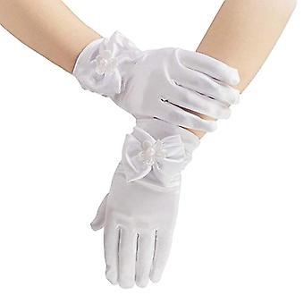 Mädchen Bogen Knoten Abschlussball Satin Stretchy Stage Shining Luxus Fee Handschuhe Weihnachtsgeschenk