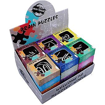 Diverse Brain Teasers Metal Wire Iq Puslespil Papirkasse Pakke 24pcs