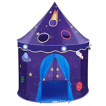 Childrens Foldable Play Tent House, Space Castle Tent, Childrens Indoor Play House, Creative Games And Gift Bags
