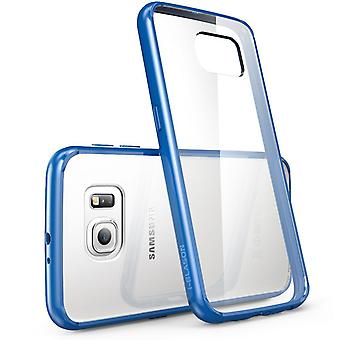 i-Blason Samsung Galaxy S6 Case - Halo Clear Case - Clear/Navy