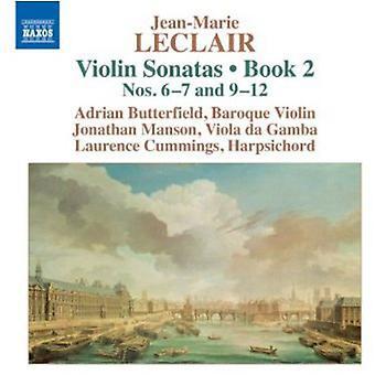 Leclair - Jean-Marie Leclair: Fiolinsonater, bok 2 nr. 6-7 og 9-12 [DVD] USA importere