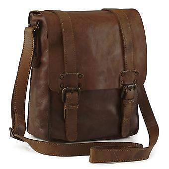 Ashwood Shoreditch Vintage de couro Messenger Bag