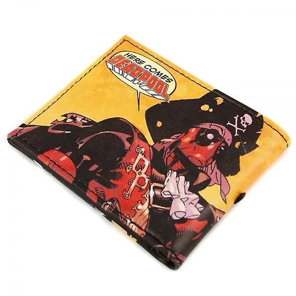 Deadpool Marvel Here Comes Deadpool Pirate Black Wallet