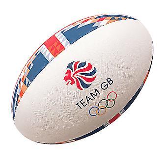 GILBERT team GB offisielle OL tilhenger rugby ball [rød/blå]