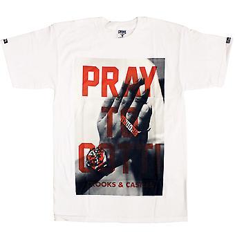 Crooks & Castles Pray To Gotti T-Shirt White