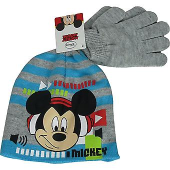 Disney Mickey Mouse Boys 2 delige set Beanie & handschoenen