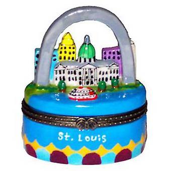 Gateway Arch St. Louis Missouri porselein scharnierend Snuisterijdoosje