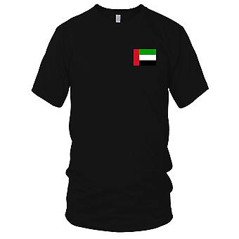 Arabiske emirater UAE land nasjonale flagg - brodert Logo - 100% bomull t-skjorte Mens T-skjorte