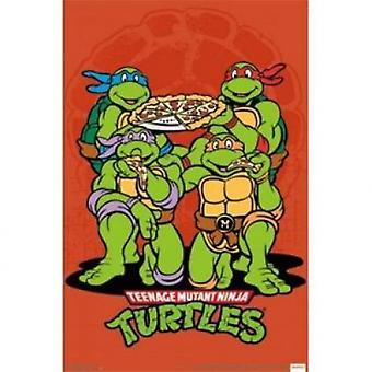 Teenage Mutant Ninja Turtles Pizza juliste Juliste Tulosta