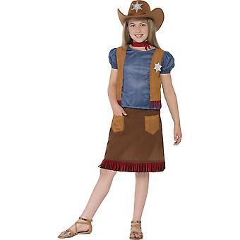 Dziecięce stroje karnawalowe zachodniej Cowgirl kostium dla dziewczyn