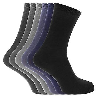 Mens Plain Socks With Ribbed Top (Pack Of 6)